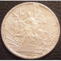 1 Peso 1913 Plata México Libertad Caballo Doble Golpe 9 Hm4