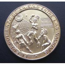 Medalla Futbol Plata C/ Baño Oro Limitada Directivos
