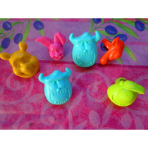 Pooh Y Monster Inc Mod 2 Set De Anillos Para Pastel