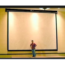 Pantalla Electrica Para Proyector Proyeccion Frontal 4x3 Mts