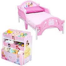 Camita Cama Y Juguetero Infantil Niña Princess Princesas