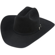 Gorra Resistol Hombres De Negro Oro Hat Negro, 7 3/8