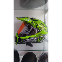 Casco Moto Cross Doble Proposito Con Mica