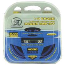 Kit Cables Calibre 0 Para Amplificador Bullz Audio Ppak0cbl