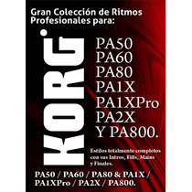 Ritmos Korg Pa50,60,80, Pa1x, Pa1xpro,pa2x Y Pa800