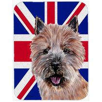 Norwich Terrier Con Unión Jack Británica Inglés Cristal D