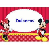 Bolsita Dulcero Fiesta Regalo Cumpleaños Mickey Minnie Mause