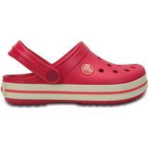 Zapato Crocs Unisex Infantil Crocband Kids Rosa