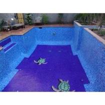 Mosaico Veneciano Albercas Tinas Baño 2x2 Azul Cancun