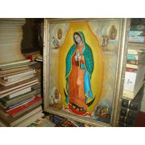 Óleo Sobre Lámina - Virgen De Guadalupe