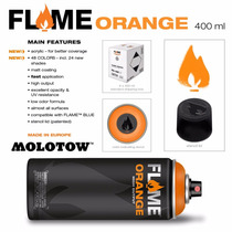 Pintura Aerosol Graffiti Flame Orange X12 Molotow
