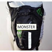 Piernera Monster Bolsa Para Pierna Motociclista Moto Viajes