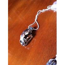 Collar Craneo Tigre Colmillos De Sable Smilodon