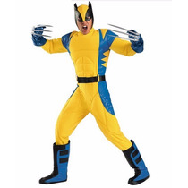 Disfraz Wolverine X Men Adulto Hombre Version De Renta 42/46