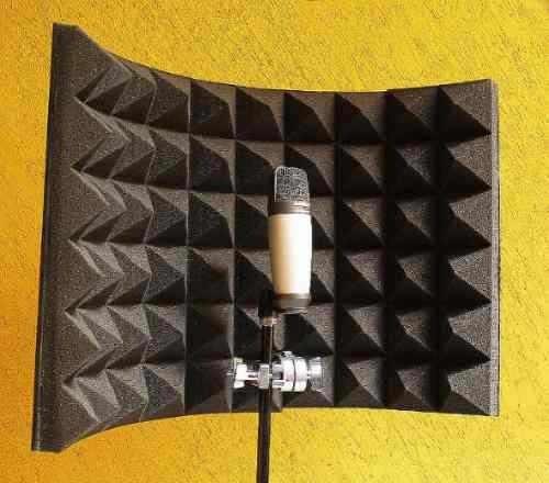 Concha acustica para microfono de estudio cabina de voz - Insonorizar estudio ...