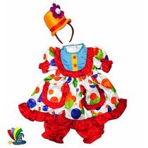 Disfraz Payasita Payaso Niña Con Sombrero