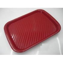 Charola De Plastico De Servicio 30 X 40 Cms Cafe Azul Rojo M