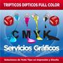 Publicidad Imprenta Tripticos / Dipticos Full Color Millar