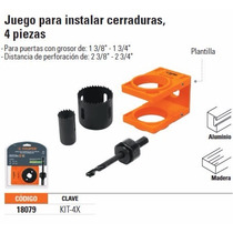 Kit Juego Plantilla P Instalacion Cerraduras Chapas Truper