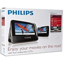 Dvd Player Portatil Philips Con 2 Pantallas 9 Pulgadas