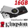 Memoria Flash Usb Kingston 16 Gb Roja Datatraveler Dt101