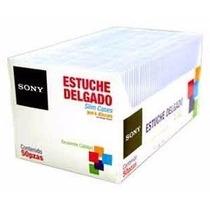 Estuche Plastico Transparente Sony P/ Discos Cd Dvd 50 Pzas