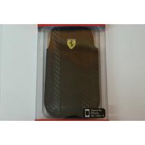 Funda Celular Scuderia Ferrari Negro Piel Iphone 3g/3gs/4