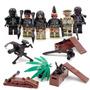 Equipo Swat Fuerzas Especiales Heavy Arms Fire Tipo Lego