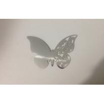 Mariposas De Papel Decoración Copas Plateada