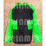 Impermeable Para Motociclista Modelo California Negro Verde