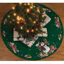 Bucilla Original. Carpeta Pie De Arbol Navideño. Navidad