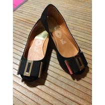 Zapatos Flats Negros Cklass 23 1/2