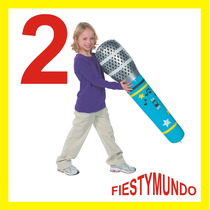2 Microfonos Inflables Gigantes Fiesta Dj Boda Xv Batucada