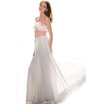 Baituya Vestido De Boda De Piesta De Chifon De Flore Elegant