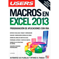 Libro Ebook Macros En Excel 2013 (digital)