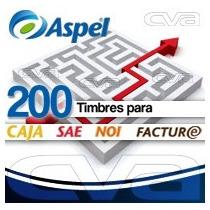 Aspel 200 Timbres (para Facture, Caja, Sae O Noi) (fisico)