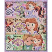 Billetes Didacticos Princesa Sofia 5x13 Cm (paq 90 Billetes)