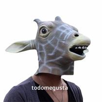 Máscara De Jirafa Disfraz De Animal Halloween Latex