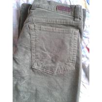 Pantalón Calvin Klein De Pana Color Verde Para Dama.