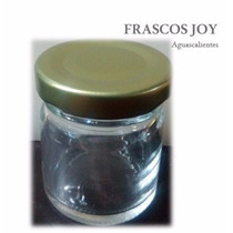 Frasco Vidrio Mini De 1.5 Oz Con Tapa(paquete Con24 Piezas)