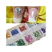 Estuche 1200 Cristal 100% Colores Swarosky Uñas Gelish