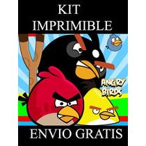 Kit Imprimible Angry Birdss Cumpleaños Fiestas 100% Editable