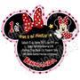 Diseño De Invitación Mimi Minnie Mouse En Silueta Fiesta #6
