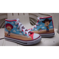 Tenis Personalizados Convese Jesy Woody Toy Story Iph
