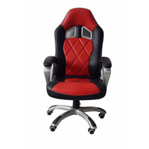 Silla Turismo Racing Red And Black Gaming Chair