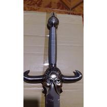 Espada Vikinga Con Cuernos De Lujo Funda Rigida Y Base