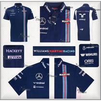 Playera Polo Williams Martini Racing F1 Genuina 2016 Hackett