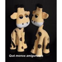 Jirafa Amigurumi Crochet Marca Que Monos Amigurumis