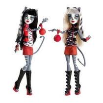 Monster High Acción Muñeca Figura 2pack Gift Set Werecat Her
