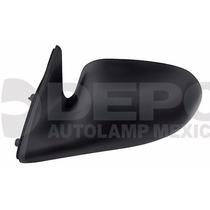 Espejo Nissan Sentra 1996 - 2000 Izquierdo Manual Negro